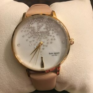 Kate Spade Metro Vachetta Three-Hand Watch - Pink